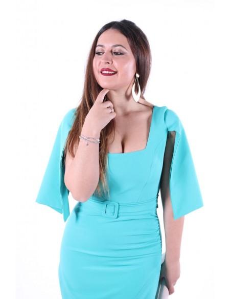 Vestido Cuadros Hebilla