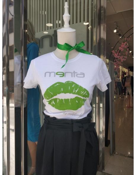 Camiseta Blanca Menta