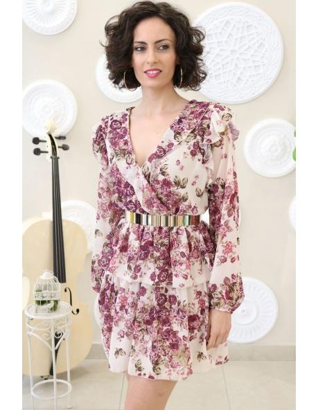 Vestido Rabat Flores Romántico