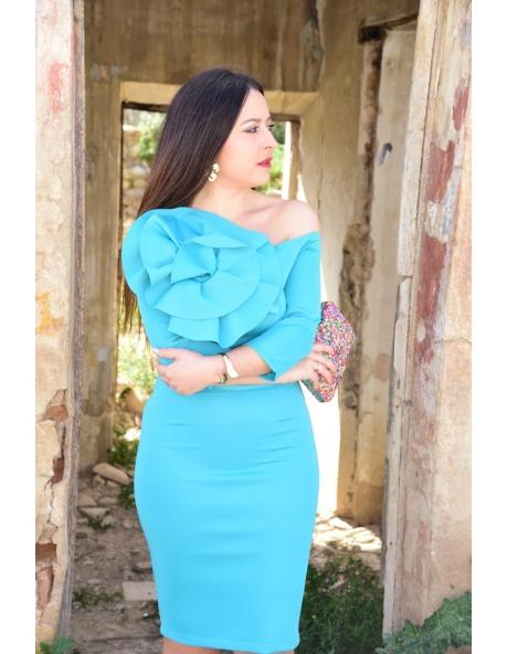 Vestido Sevilla Turquesa