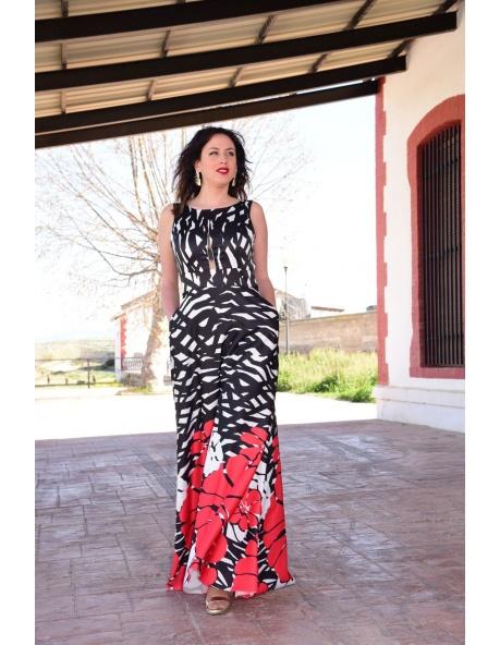 Vestido Largo Flor Pasión