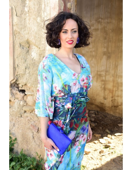 Vestido Murcia Escote Floral