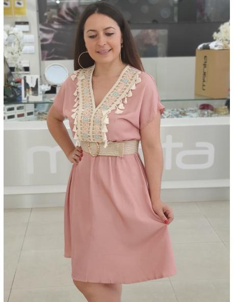 Vestido Rosenda Rosa