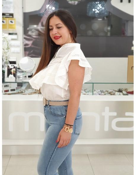 Camiseta Lina Blanca