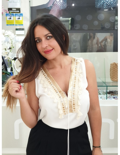 Top Flecos Carmen Blanco
