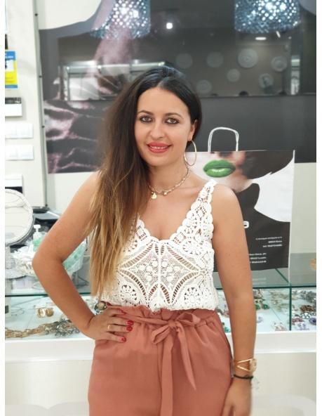 Top Palmera Blanco