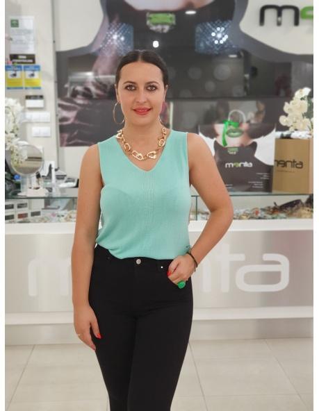 Top Tina Turquesa