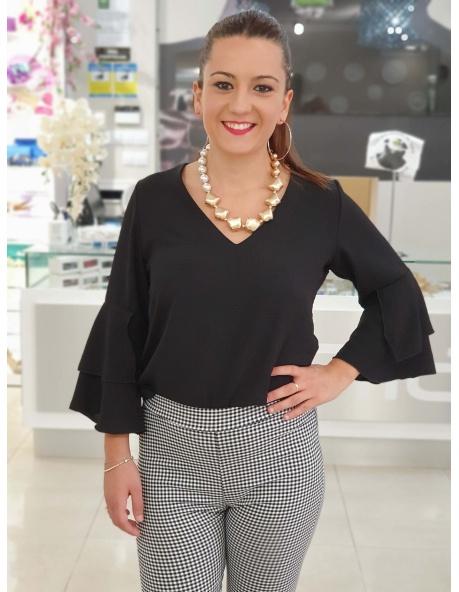 Blusa Lisa Pico Negro