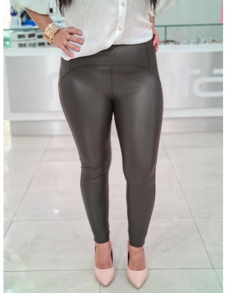 Pantalon Isabel polipiel verde