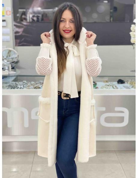 Chaleco Amanda blanco
