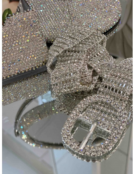 Cinturon Diamante Plata