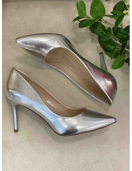 Zapato Salon Venecia Plata