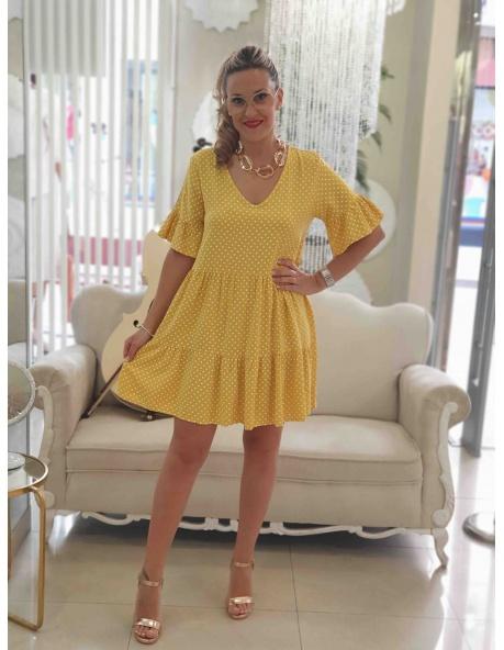 Vestido Nacimiento Amarillo