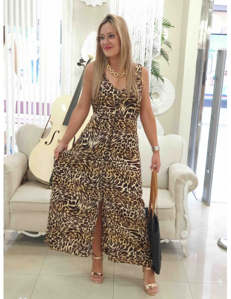 Vestido Leoparda negro