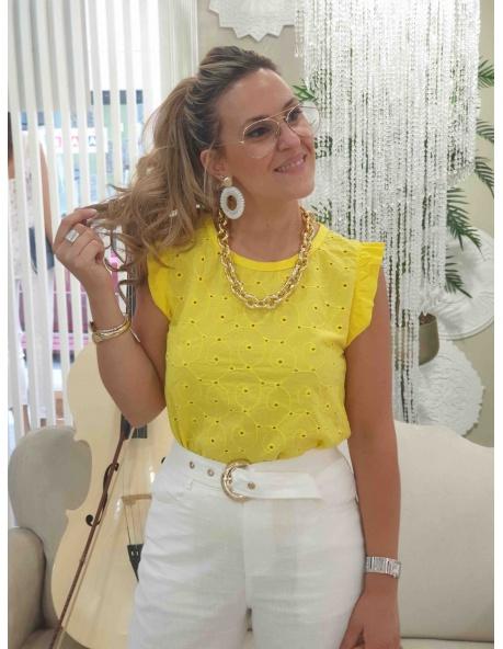 Camiseta Marie Amarilla