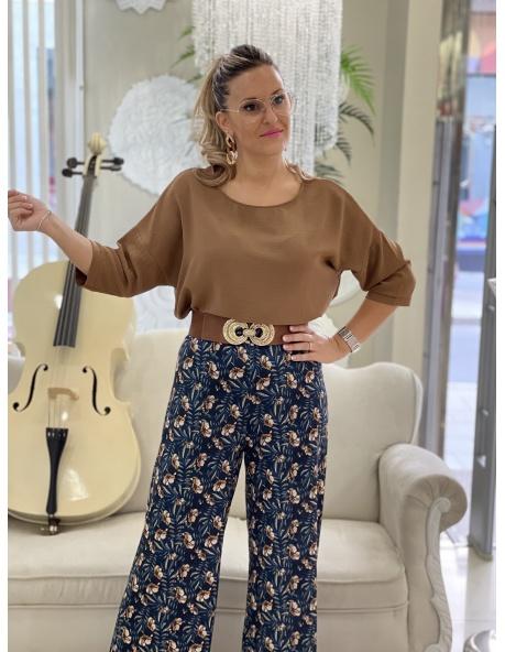 Pantalon Aldea marron