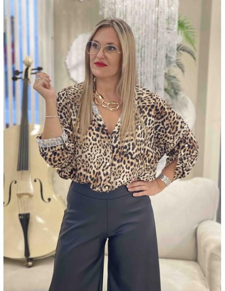 Camisa Antonia Leopardo