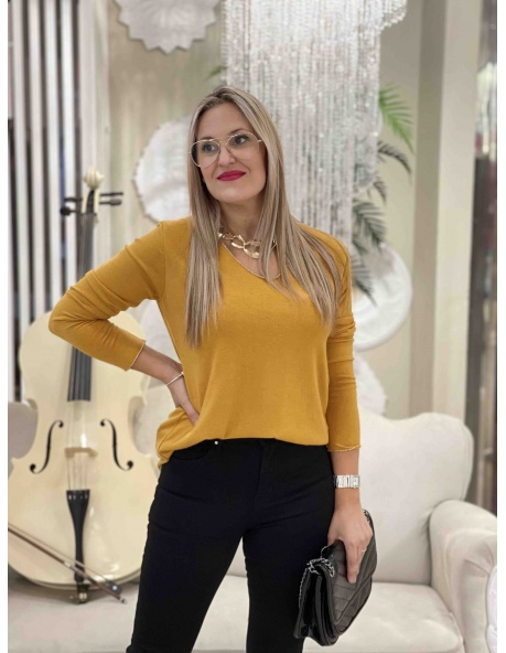 Camisa Elena Mostaza