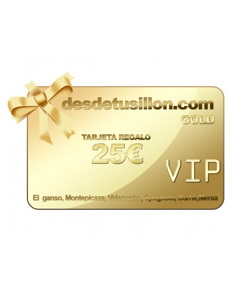 TARJETA REGALO VIP 25€